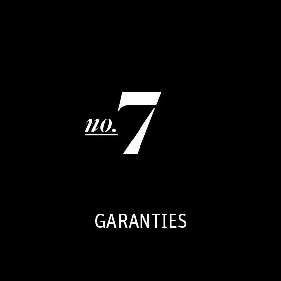Processus d'achat 7 - Garantie