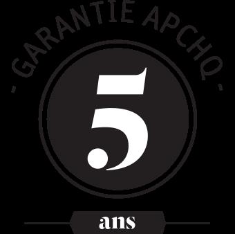 Garantie APCHQ de 5 ans