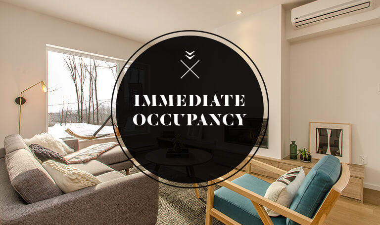 Immediate occupancy Bromont immobilier